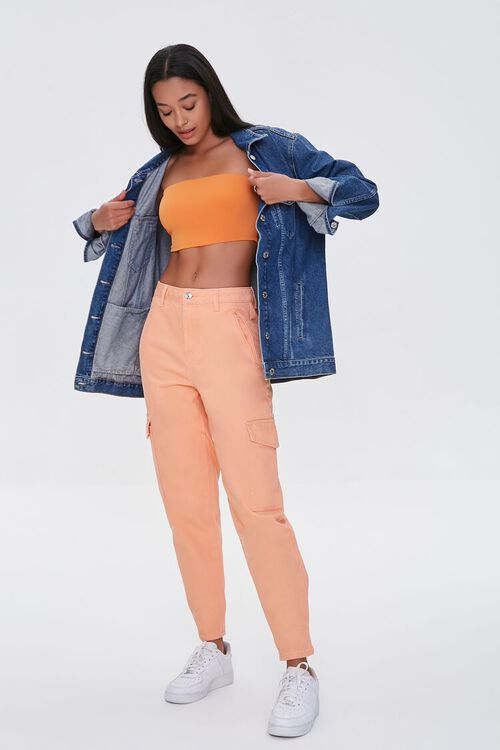 High-Rise Cargo Jeans, image 1