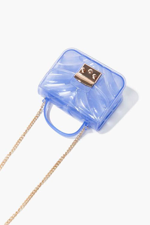 BLUE Quilted PVC Crossbody Bag, image 3