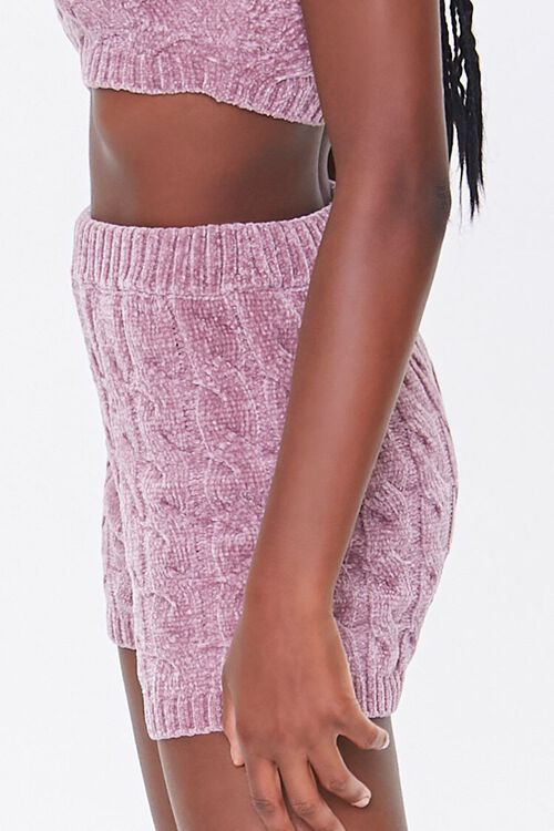 Sweater-Knit Chenille Shorts, image 3