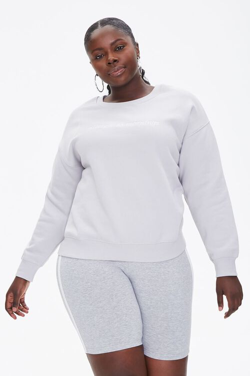Plus Size Allergic To Mornings Pullover, image 1