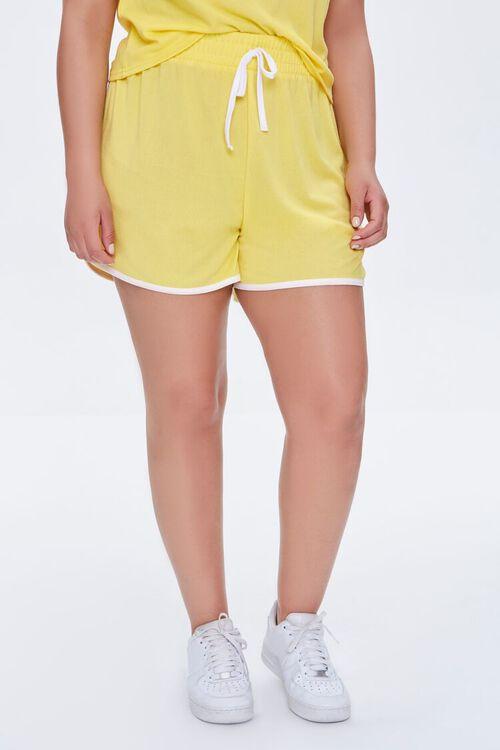 Plus Size Contrast-Trim Tee & Dolphin Shorts Set, image 6