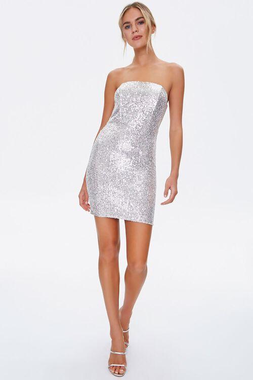 Metallic Strapless Dress, image 4