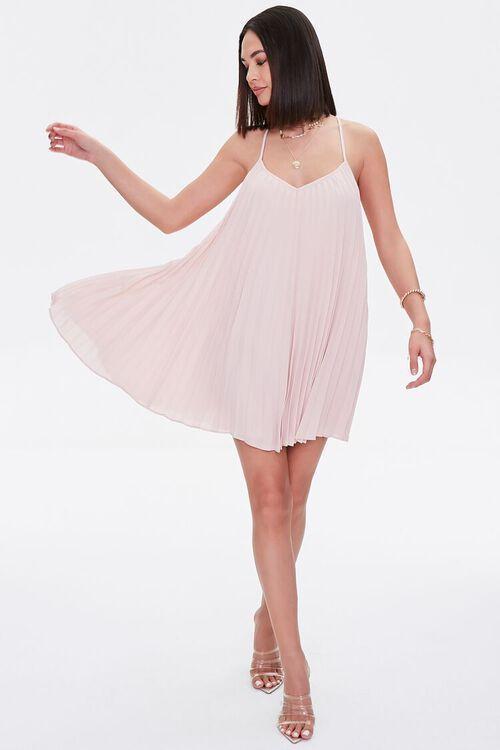Pleated Mini Shift Dress, image 1