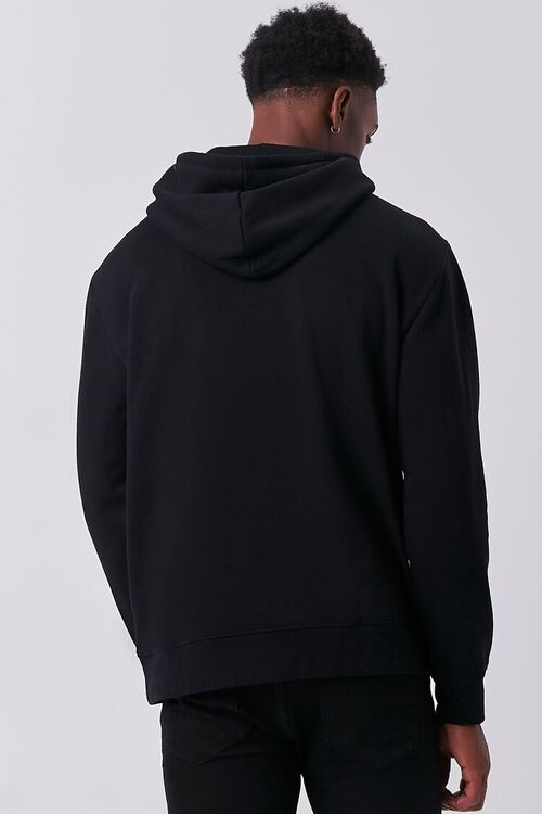 BLACK/RED Problems Graphic Fleece Hoodie, image 3