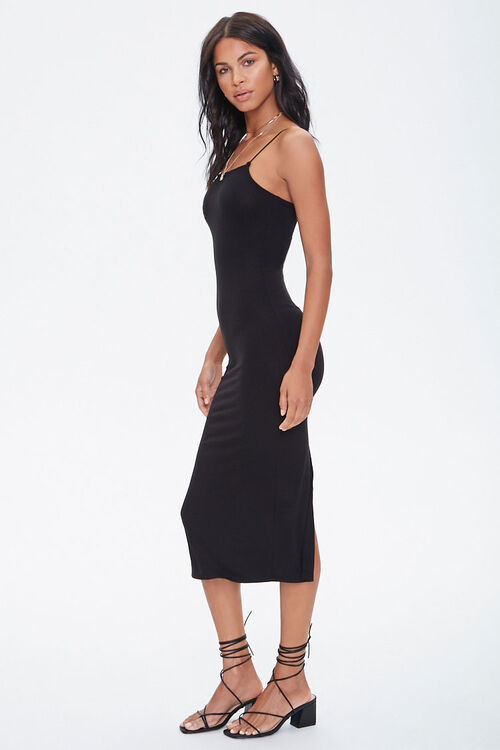 Ribbed Slit Midi Dress, image 3
