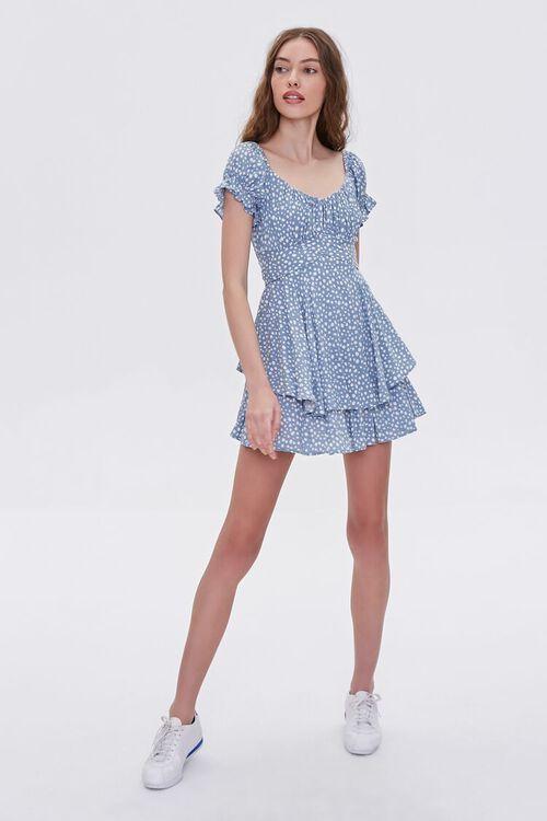 Spotted Print Flounce Mini Dress, image 4