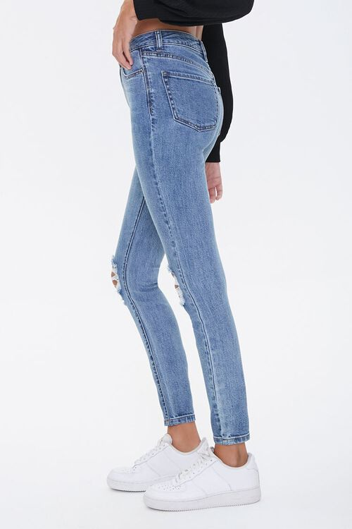 Distressed High-Rise Skinny Jeans, image 3