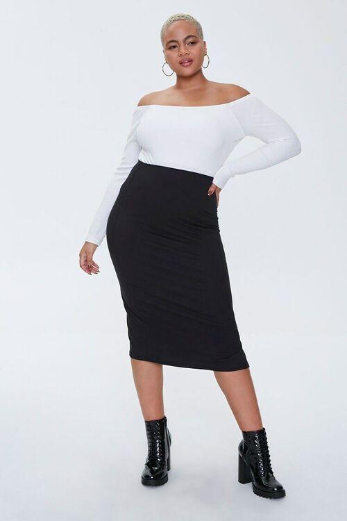Plus Size Ribbed Knit Bodysuit, image 4