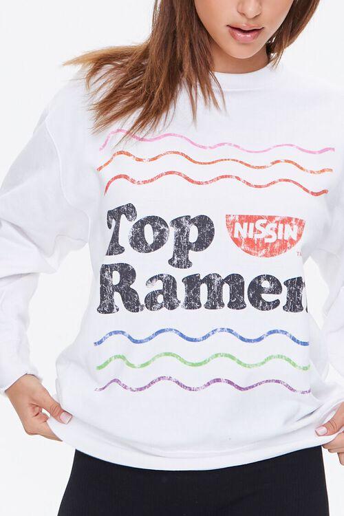WHITE/MULTI Nissin Top Ramen Graphic Pullover, image 5