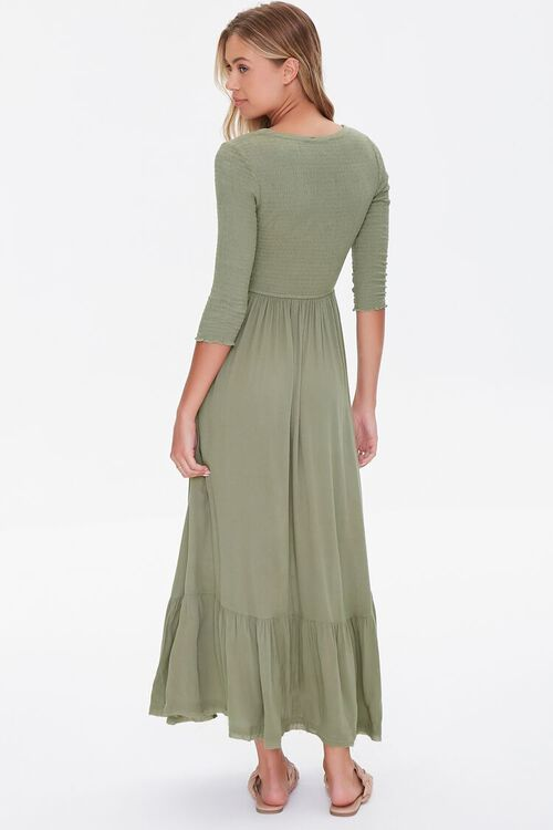 Plunging Lace-Up Maxi Dress, image 3