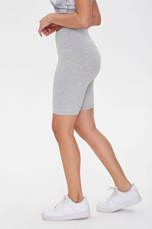 Active Heathered Biker Shorts, image 3