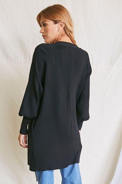 BLACK Seamed Cardigan Sweater, image 3