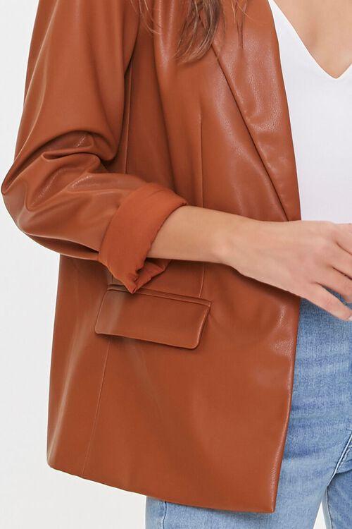 Faux Leather Blazer, image 5