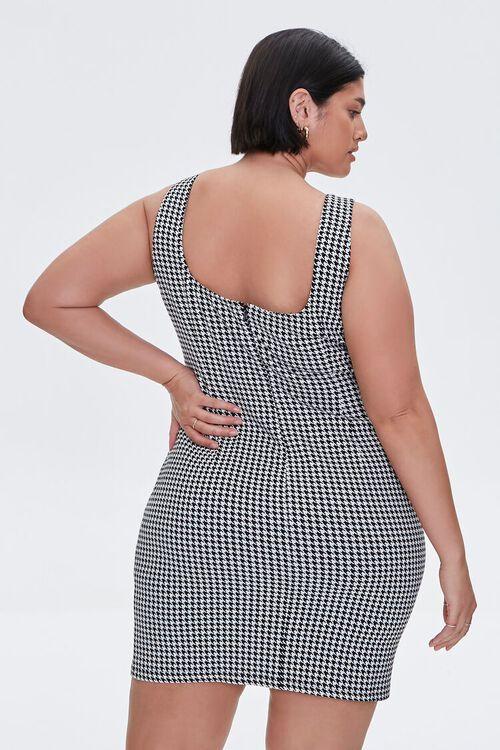Plus Size Houndstooth Mini Dress, image 3