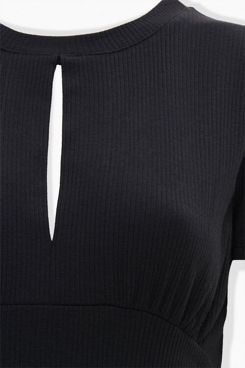 Vented Ribbed Knit Tee, image 3