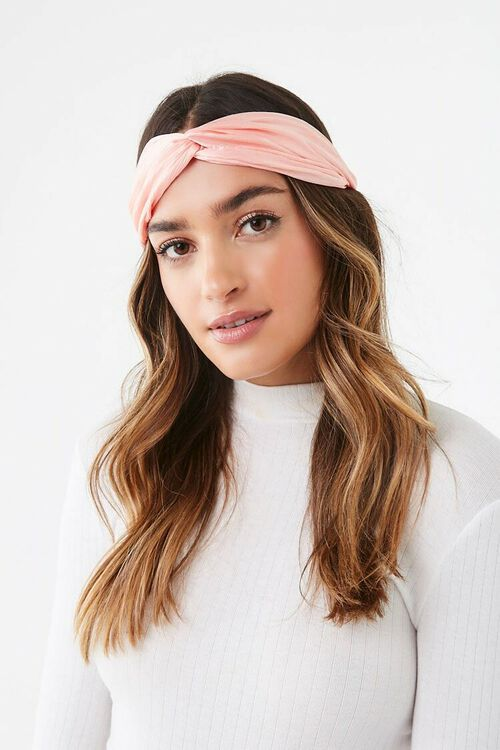 Crinkled Twist-Front Headwrap, image 1