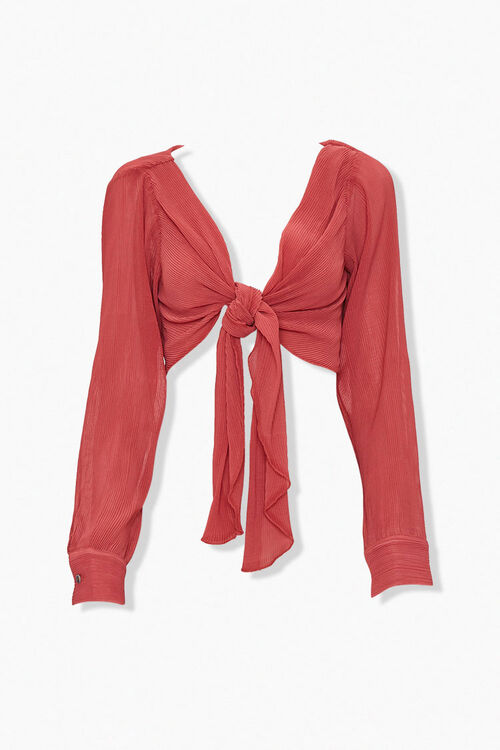 ROSE Ribbed Knotted Crop Top, image 5