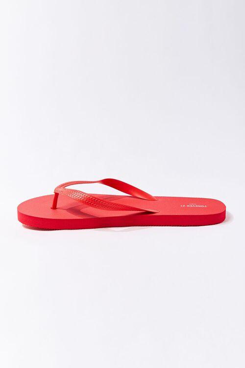 RED Men Flip-Flop Thong Sandals, image 2