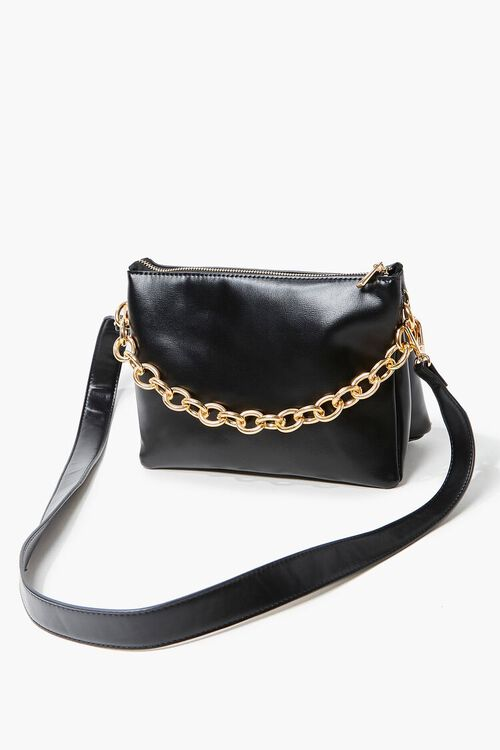 Chain Faux Leather Crossbody Bag, image 4