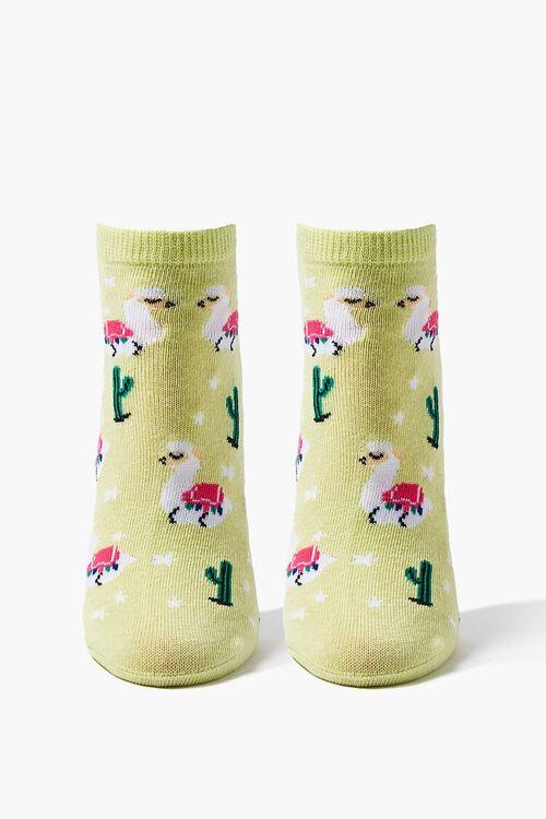 Alpaca Print Ankle Socks, image 1