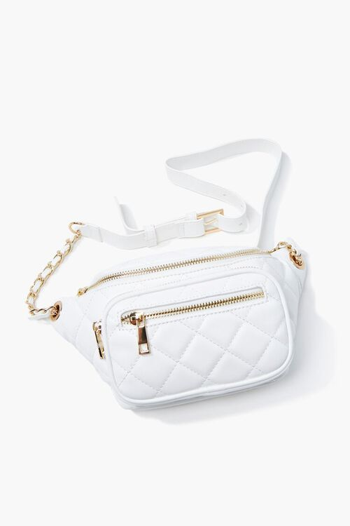 Faux Leather Quilted Fanny Pack, image 1