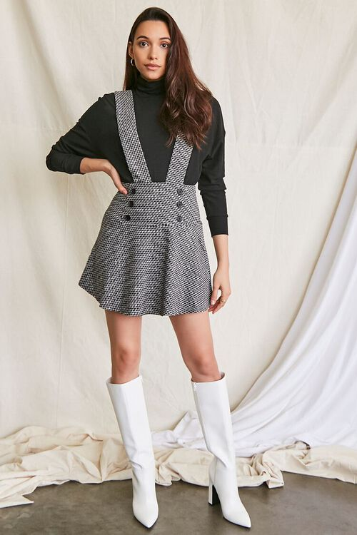 BLACK/MULTI Double-Breasted Mini Pinafore Dress, image 4