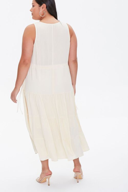 LIGHT YELLOW Plus Size Column Midi Dress, image 4
