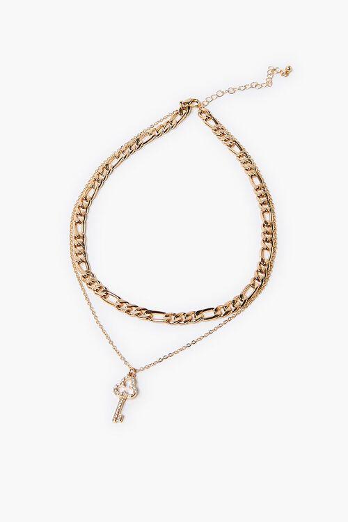 Key Charm Layered Necklace, image 2