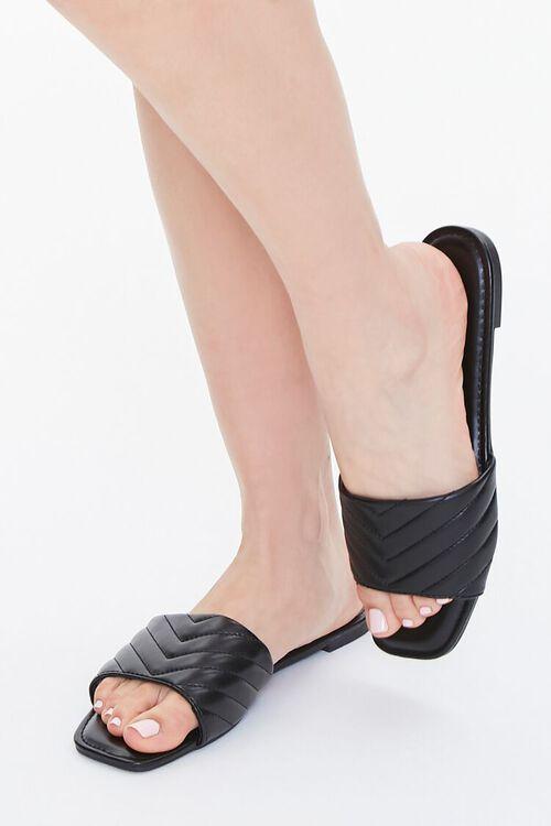 Metallic Quilted Sandals, image 1