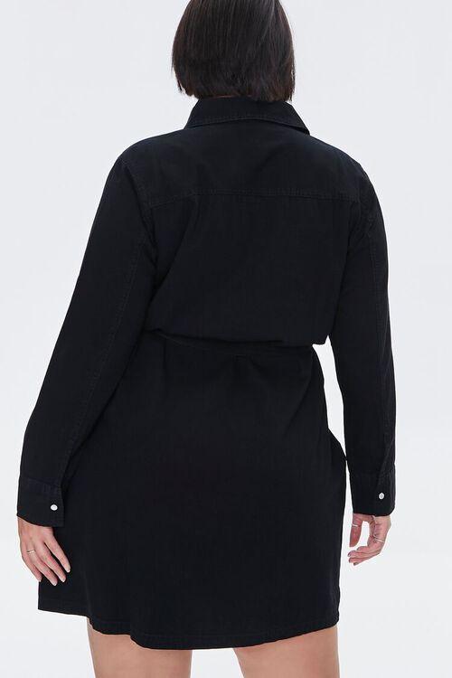 Plus Size Denim Shirt Dress, image 3