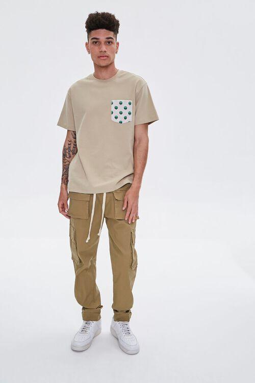 Cuffed Drawstring Cargo Pants, image 1