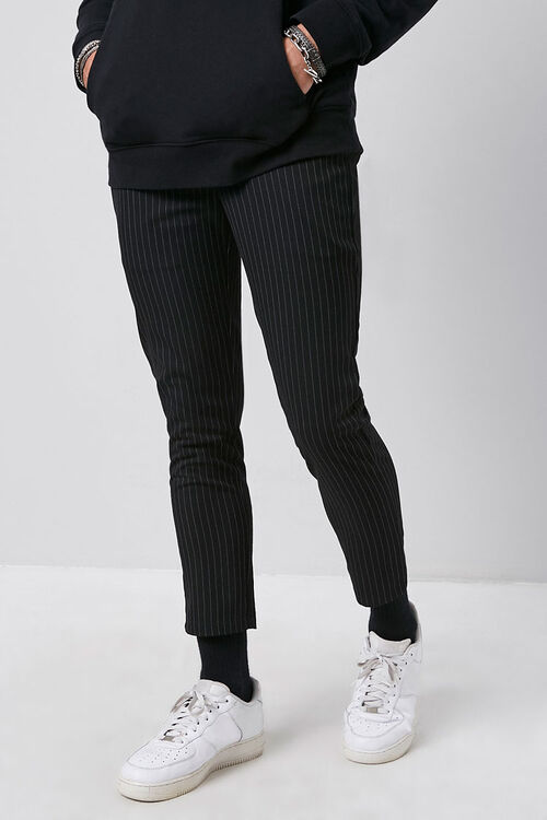 Striped Slim-Fit Ankle Trousers, image 2