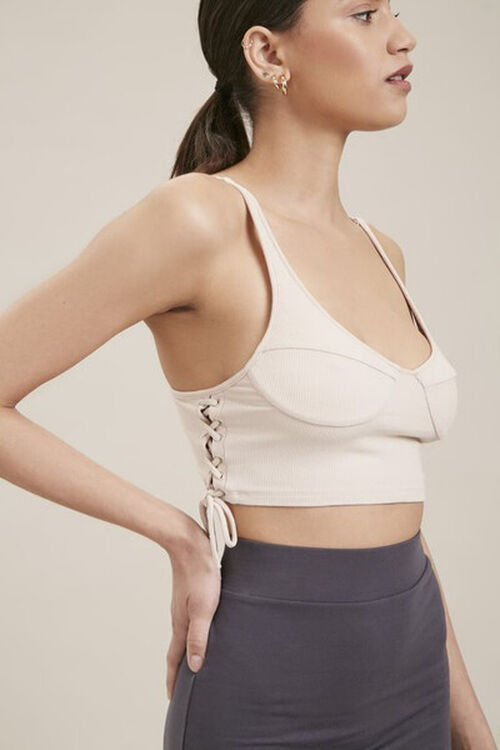 Lace-Up Cropped Cami, image 1