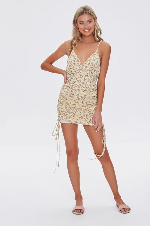 Floral Ruched Mini Dress, image 4