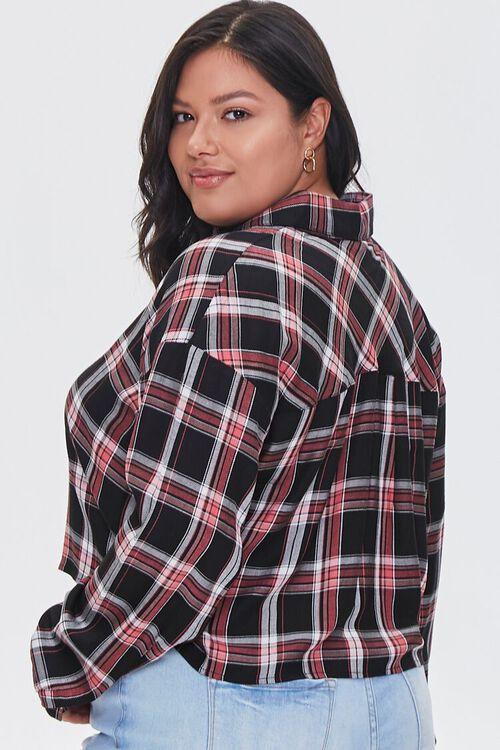 Plus Size Cropped Plaid Shirt, image 3