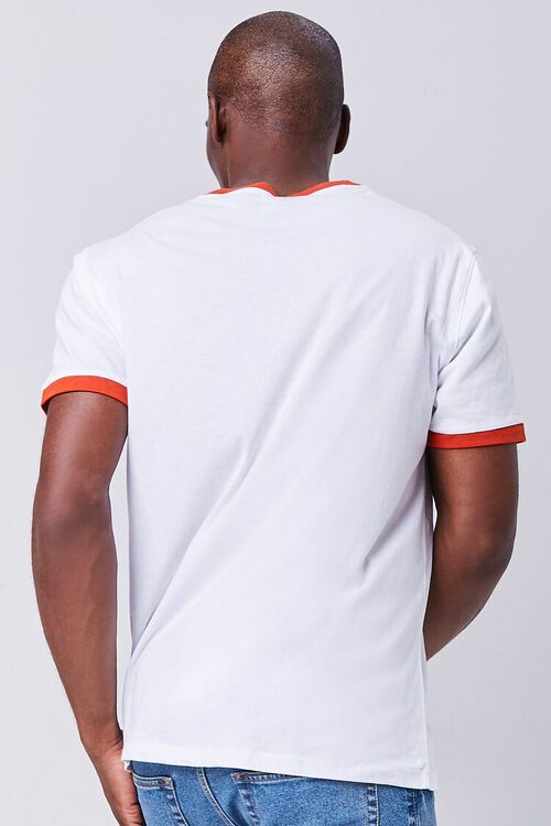 WHITE/RED Contrast-Trim Ringer Tee, image 3
