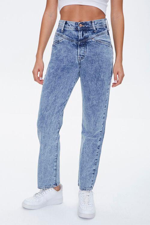 Acid Wash Straight-Leg Jeans, image 2