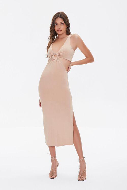 Cutout O-Ring Side-Slit Dress, image 1