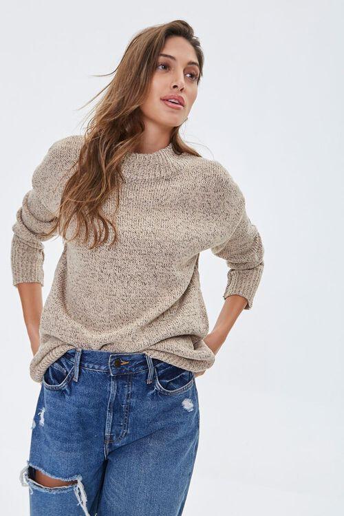 Marled Mock Neck Sweater, image 1