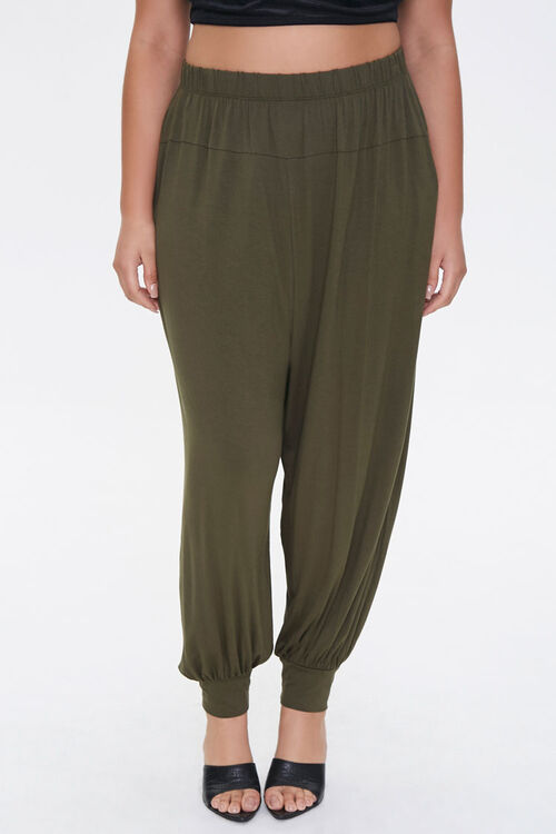 Plus Size Billowy Joggers, image 2