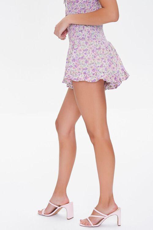 LAVENDER/MULTI Floral Smocked Mini Skirt, image 3