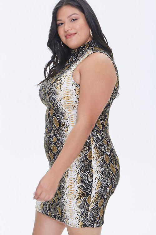 Plus Size Snake Print Mini Dress, image 2
