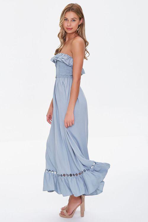 Strapless Ruffle-Trim Maxi Dress, image 2