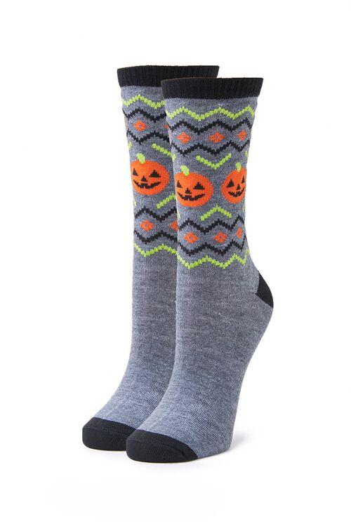 Jack-O-Lantern Crew Socks, image 1