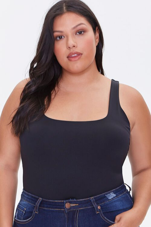 Plus Size Square-Neck Bodysuit, image 1