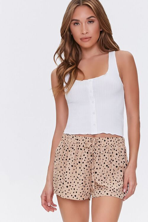 Spotted Print Lounge Shorts, image 1