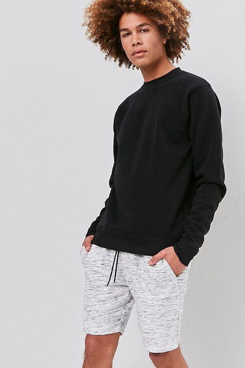 Marled Drawstring Shorts, image 1