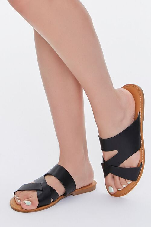 Caged Crisscross Sandals, image 1