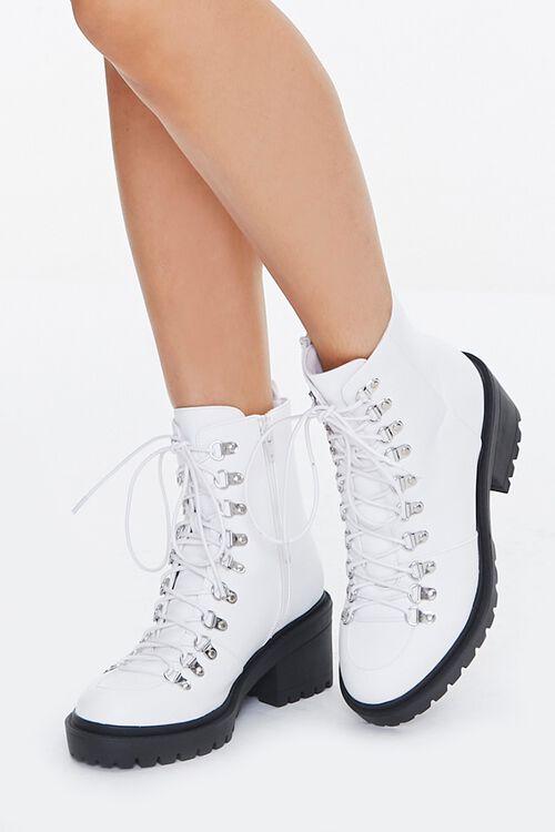 Faux Leather Combat Boots, image 1