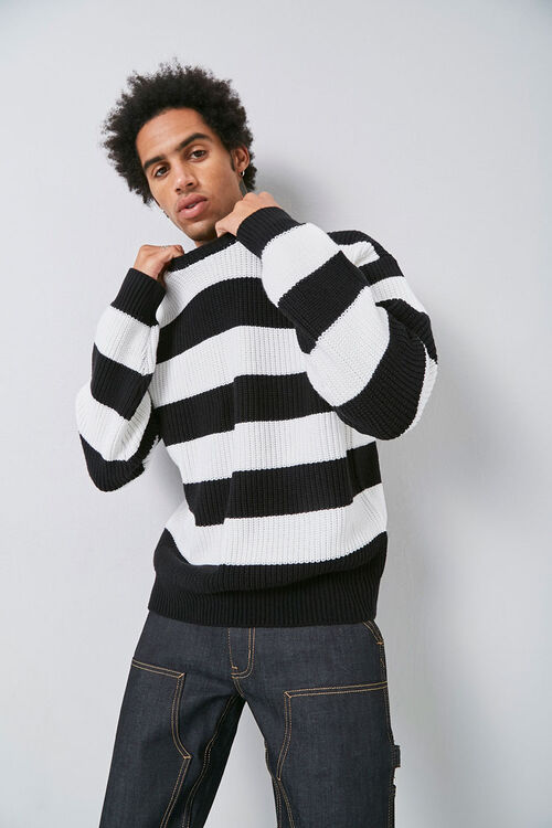 Ribbed Striped Sweater, image 1